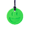 Smiley Face Chew Necklance Lime Green-484