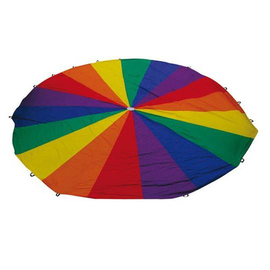 Rainbow Parachutes - 6m diameter - 18 handle