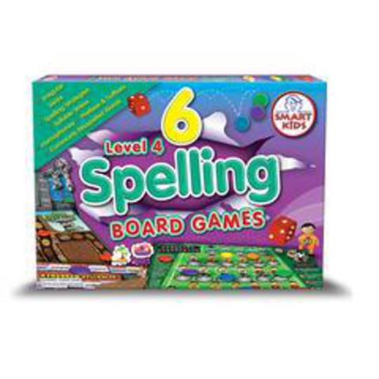 6 Spelling Board Games - Level 4