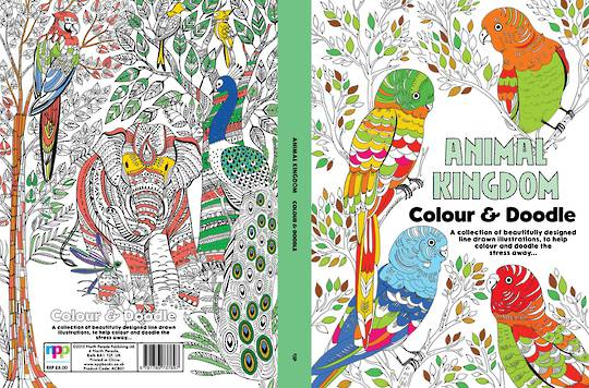Adult Colouring - Animal Kingdom Colour & Doodle