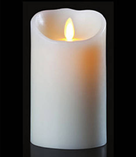 Luminara Wax Flicker LED Candle - Ivory 3.5 x 5