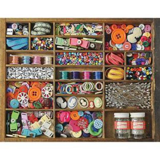 Sewing Box Jigsaw Puzzle, 36 Pieces