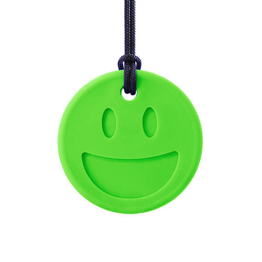 Smiley Face Chewelry Lime Green XT