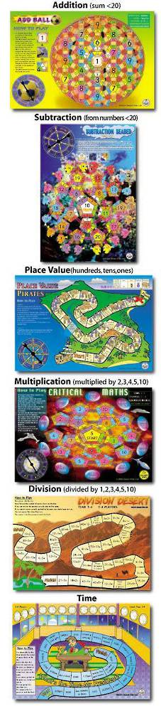 6 Maths Board Games Pack 1