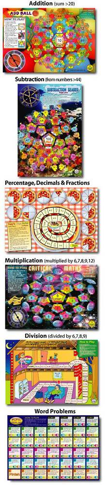 6  Maths Board Games Pack 2