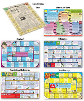6 Reading Comprehension Board Games - Level 2