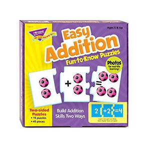 Easy Addition Fun to Know Puzzles