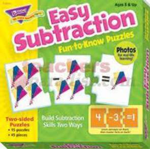 Easy Subtraction Fun to Know Puzzles