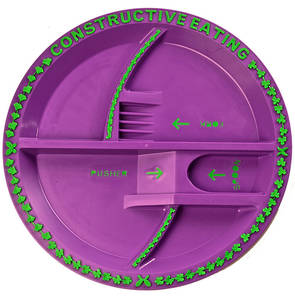 Garden Fairy Constructive Eating Kids Plate!